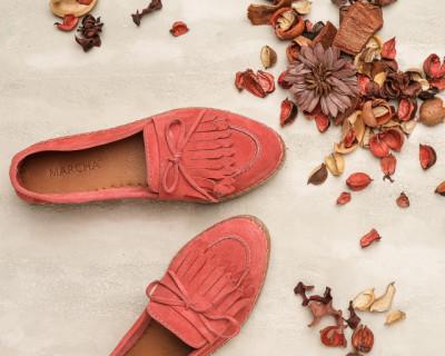 Kožne ženske espadrile HY1004 roze