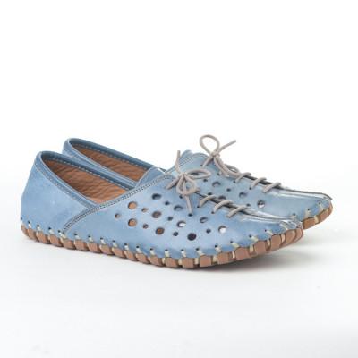 Kožne ženske espadrile K1210/535 plave
