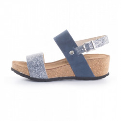 Kožne ženske sandale K1228 teget