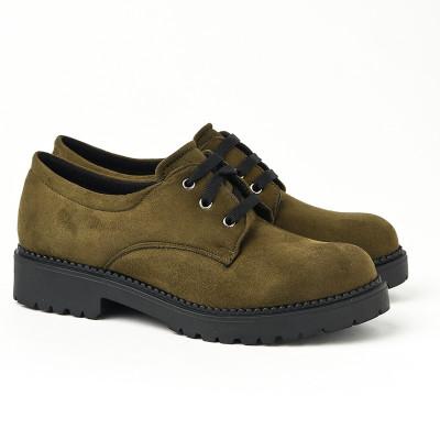 Ravne jesenje cipele 623-858 maslinaste