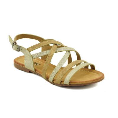 Ravne sandale LS020308 zlatne