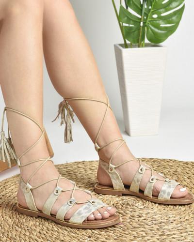 Ravne sandale LS022037 zlatne