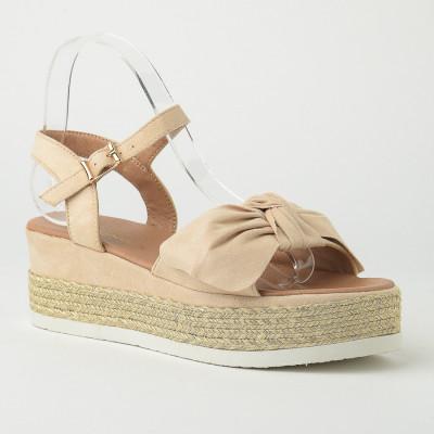 Sandale na debelom djonu LS020550-1 bež