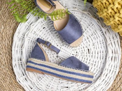 Sandale na debelom đonu LS90212 plave