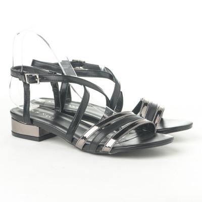 Sandale na malu petu 3723-4 crno/srebrne