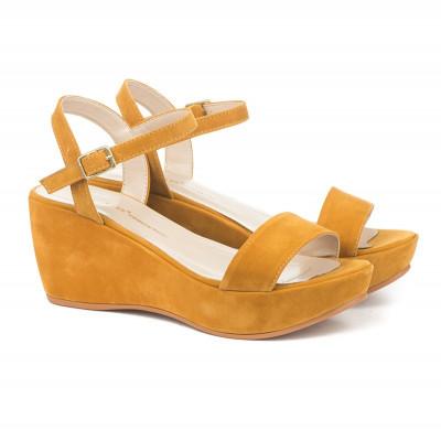 Sandale na platformu 709 oker žute