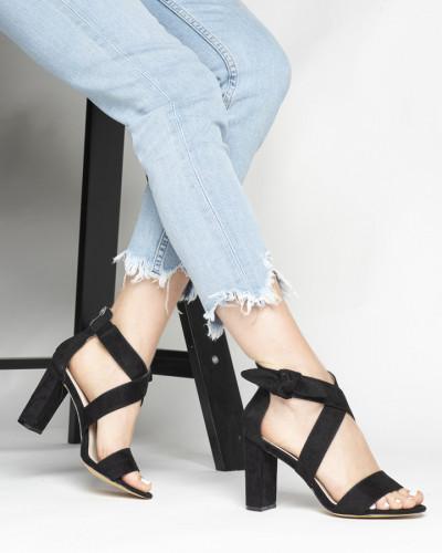 Sandale na štiklu LS021157 crne