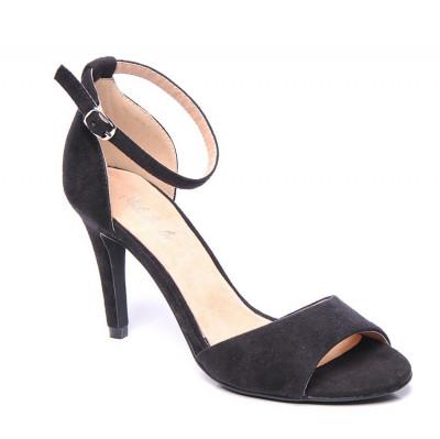 Sandale na štiklu LS0460 crne
