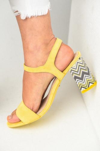 Sandale na štiklu LS381900 žute