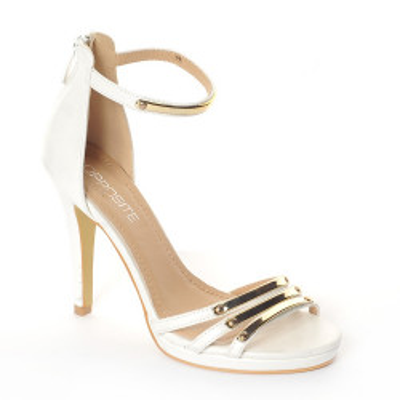 Sandale na štiklu LS55026 bele
