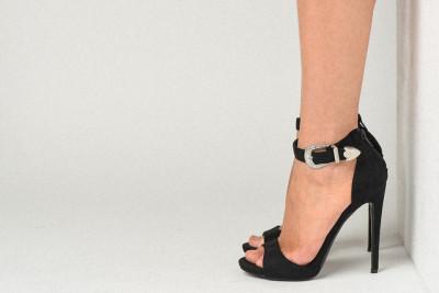 Sandale na štiklu LS91606 crne