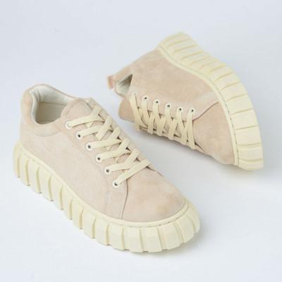 Ženske cipele/patike na debelom đonu 2028M bež