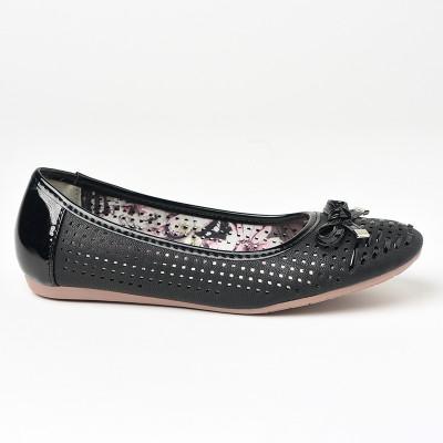 Baletanke sa kožnom tabanicom L71221-2 crne