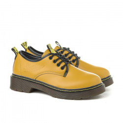 Cipele na pertlanje C426 žuta