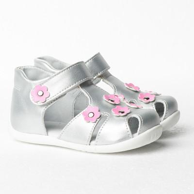 Dečije sandale sa anatomskim uloškom S14 srebrne