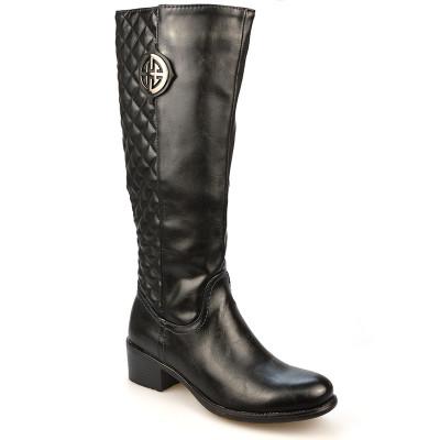 Duboke ravne čizme A1323 crna