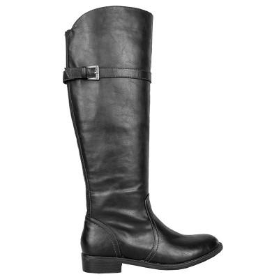 Duboke ravne čizme A1326 crna