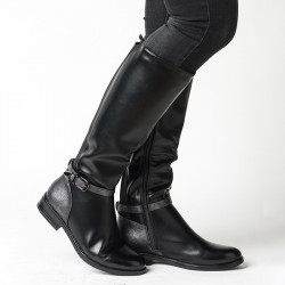Duboke ženske čizme LX601808 braon