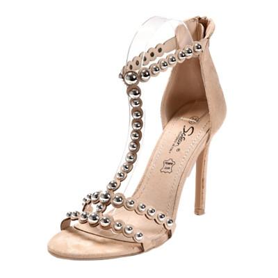 Elegantne sandale na štiklu LS20804 bež