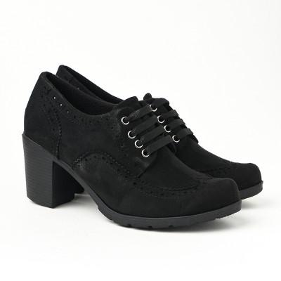 Jesenje cipele na petu 2360-843 crne