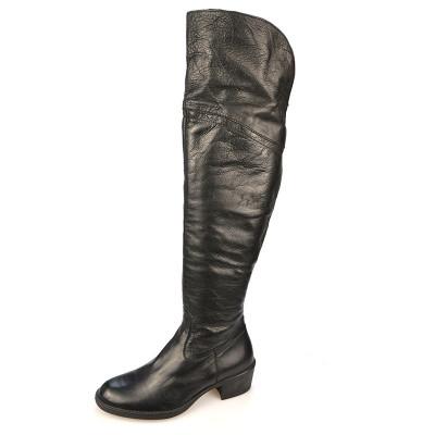 Kožne čizme preko kolena  6102 crne