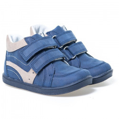 Kožne dečije cipele sa anatomskim uloškom B03 teget