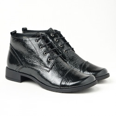 Kožne duboke cipele 2-901 crna lakovana
