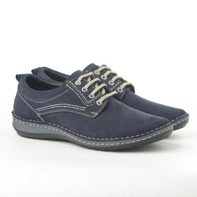 Kožne muške cipele 9540 teget