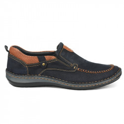 Kožne muške cipele 9545 teget