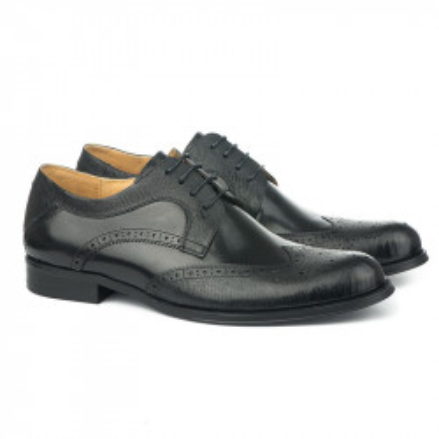 Kožne muške cipele BY320-6 crne