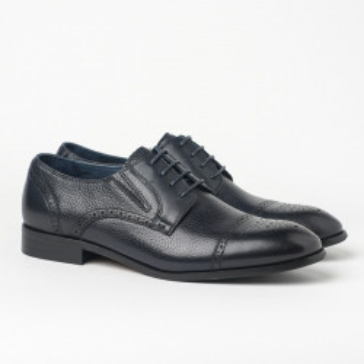 Kožne muške cipele HL-1051F-5-N8 teget