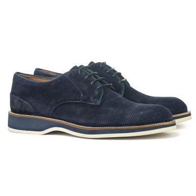 Kožne muške cipele P21600 teget