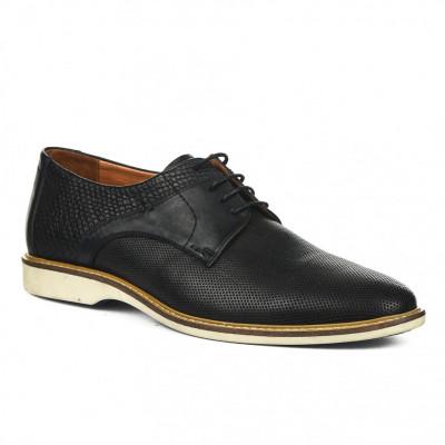 Kožne muške cipele P27951 crne