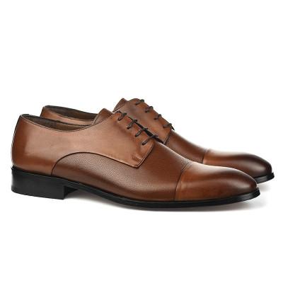 Kožne muške cipele sa kožnim đonom 1727 braon