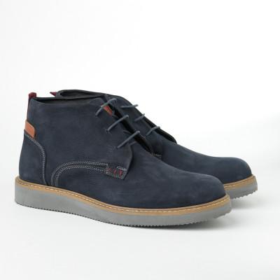 Kožne muške duboke cipele 2019-1 teget