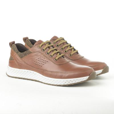 Kožne muške patike-cipele 91528-1 kamel