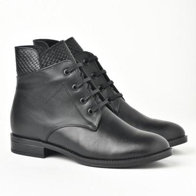 Kožne poluduboke cipele 9113 crne