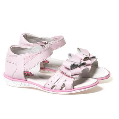Kožne sandale za devojčice D376 roze