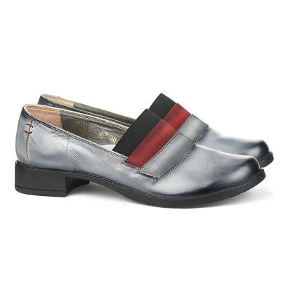 Kožne ženske cipele 2-807 sive