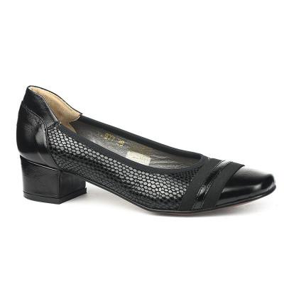 Kožne ženske cipele M977 crne