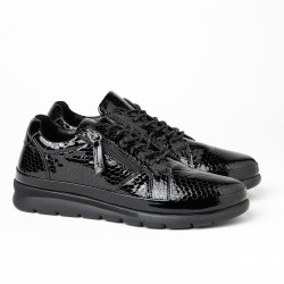 Kožne ženske patike / cipele H4295 crne