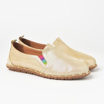 Lagane kožne cipele S19602 bež