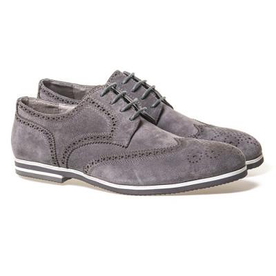 Muške cipele od prevrnute kože KB39-1 sive