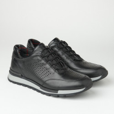Muške kožne patike/cipele F6807/512 crne