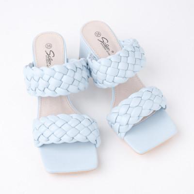 Papuče na štiklu LP242126 bele