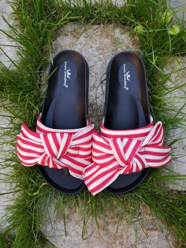 Ravne papuče A3 crvene
