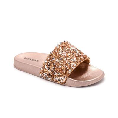 Ravne papuče LP055722 zlatne