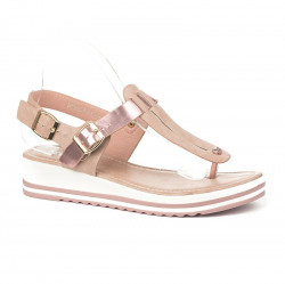 Sandale japanke S6303 puder roze