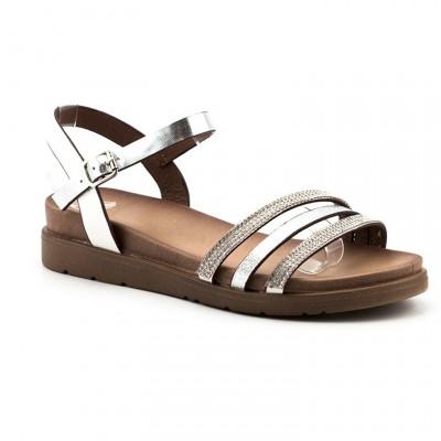 Sandale na debelom đonu LS83150-1 srebrne
