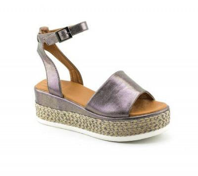 Sandale na debelom đonu LS90217 tamno srebrne
